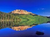 Reflection of Beartooth Butte into Beartooth Lake, Wyoming, USA Stampa fotografica di Chuck Haney