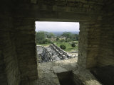 Looking out of the Ruins Over Palenque, Mexico Photographie par Michael Brown