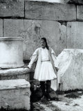 Portrait of an Elderly Man Dressed in Traditional Costume, Eleusis Photographic Print