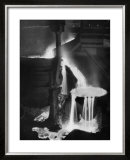 "Molten Steel Cascading in Otis Steel Mill in Historic ""Pouring the Heat"" Photo Poster by Margaret Bourke-White"