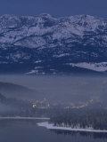 Donner Lake and Haze from Wood Smoke over Truckee, California Photographic Print by Phil Schermeister