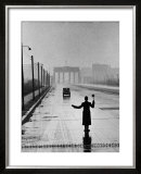 Automobile Arriving from the Eastern Sector of Berlin Being Halted by West Berlin Police Prints by Ralph Crane