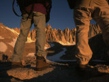 Hikers Look Toward the Peak of Mount Whitney During and Ascent Photographic Print by Phil Schermeister