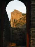 Great Wall of China through Archway, Jinshanling Section, China. Photographic Print