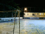 Soccer field Lit Up at Night, Rio de Janeiro, Brazil Photographic Print