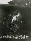 Alexander Graham Bell and Mabel Kissing Within a Tetrahedral Kite Photographic Print by U.S. Gov'T Library Of Congress