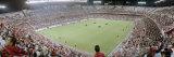 Crowd in a Stadium, Sevilla FC, Estadio Ramon Sanchez Pizjuan, Seville, Seville Province, Andalucia Fotografisk trykk av Panoramic Images,
