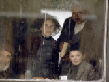 Three Generations of a Turkish Family Wait Out a Blizzard on a Train Photographic Print by Gordon Gahan