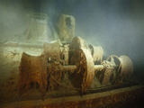 "Winches, Rust-Bound, to the Toppled Forward Mast on the Foredeck of the R.M.S. ""Titanic"" Photographic Print by Emory Kristof"