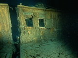 """Windows of the Officers' Quarters on the Starboard Side of the R.M.S. """"Titanic"""" Photographic Print by Emory Kristof"""