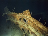 "Hull Fragment of the R.M.S. ""Titanic"" Photographic Print by Emory Kristof"