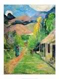 Chemin a Papeete Print by Paul Gauguin