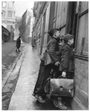 Les Ecoliers Curieux Print by Robert Doisneau
