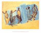 Cinq Etudes de Danseuses Cambodgiennes Poster by Auguste Rodin