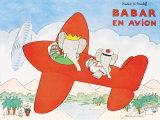 Babar in aereo, in francese Stampe di Laurent de Brunhoff