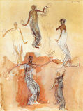 Danseuses Cambodgiennes pour Servir de Gloire Posters by Auguste Rodin