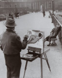 Le Peintre du Pont des Arts, c.1953 Art par Robert Doisneau