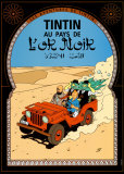 Tintin au Pays de l&#39;Or Noir, c.1950 Art by Herg&#233; (Georges R&#233;mi) 