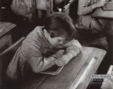 Ecole Rurale, Marne Posters par Willy Ronis
