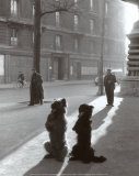 Les Chiens de la Chapelle Prints by Robert Doisneau