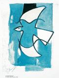 Oiseau Bleu et Gris Affiches par Georges Braque