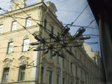 Cables in Street, Low Angle View in St. Petersburg, Russia Photographic Print