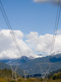 Power Lines Go Through a Wild Mountain Valley Photographic Print by Taylor S. Kennedy