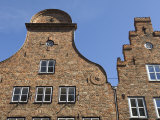 Germany, Lubeck, Facade of Medieval Hanseatic Buildings Photographic Print