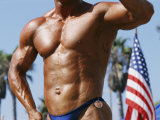 Body Builder at Muscle Beach in Venice, Ca Photographic Print