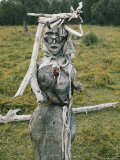 Humorous Sculpture Made from Driftwood Photographic Print by Dean Conger