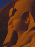 Close View of the Statue of Ramses Ii at Abu Simbel Photographic Print