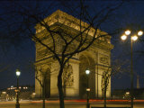 The Famous Arc De Triomphe Seen at Night Photographic Print by Richard Nowitz