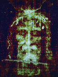This is a Computer-Enhanced Image of the Face on the Shroud of Turin Photographie par Jr, Victor R. Boswell