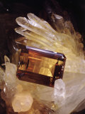 Citrine Resting on a Crystal Photographic Print by Jr, Victor R. Boswell