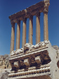 The Last Six Remaining Columns of the Temple of Jupiter Heliopolitan Photographic Print by Maynard Owen Williams