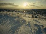 Wintery Skies Hang over Monhegan Island Photographic Print by Luis Marden
