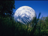 Startling View of a Round Water Tank Painted to Resemble the Earth Photographic Print by Stephen St. John