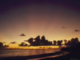 Scenic View of the Lagoon and the Atoll at Twilight Photographic Print