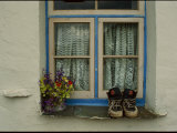 Shoes and Flowers on a Windowsill Photographic Print by Annie Griffiths