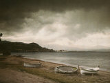 Rowboats Along a French Beach Photographic Print by Maynard Owen Williams