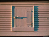 View of a Latched Entry in a Shaker Barn Photographic Print by Sam Abell