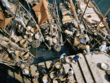 Overhead View of Boats Tied up at a Dock Photographic Print by J. Baylor Roberts