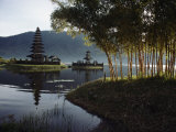 The Temple of Ulun Danu on Lake Bratan Photographic Print by Michael Nichols
