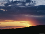A View of a Sunset over Bighorn National Forest Photographic Print by Raymond Gehman