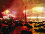 Sydney Harbour Explodes with Light and Sound During the 2000 New Years Celebration Photographic Print by Annie Griffiths