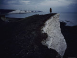 Person Standing on the Edge of a Chalk Cliff Photographic Print by Sam Abell