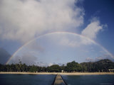 Rainbow Arching over the Island Photographic Print by Robert Madden