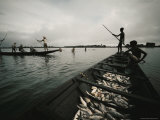 Fishermen on Chingri Ghata Photographic Print by Dick Durrance