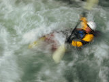 Man Kayaking a Rapid Called Iron Curtain Photographic Print by Bobby Model