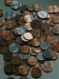 Close View of Different American Coins Photographic Print by Vlad Kharitonov